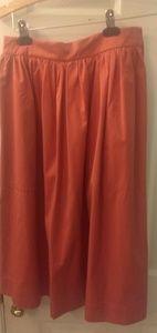 Zara womens pink midi skirt